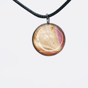 Acrylic Pour Resin Pendant Necklace